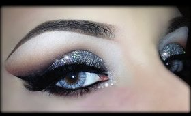 Sexy Christmas Makeup - 3D Silver Glitter Elegant Tutorial (Trucco Natale) 2014