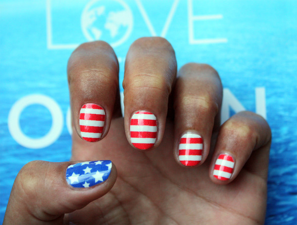 4th Of July Nail Art Shelby Rs Photo Beautylish