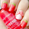 Textured Strawberry Nails