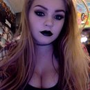 Black lips, dark eyes :)
