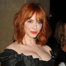 Christina Hendricks at the Vivienne Westwood LA Store Opening (Source: JustJared)