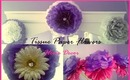 Tissue Paper Flowers - Home Decor