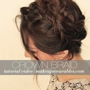 Cute Crown Braid Tutorial Video | Second Day Hairstyles