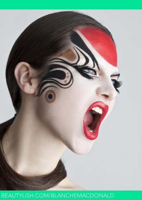 Fierce Kabuki Geisha Look Blanche M S Blanchemacdonald