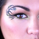 Black and Gold Leaf Eyeliner