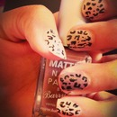 leopard style nails