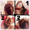 braided bun TUTORIAL pt.1