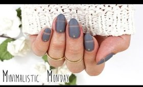 Minimalistic Monday No.1 | Matte Negative Space Nail Art ♡