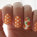 Spring Flowers and Polka Dots