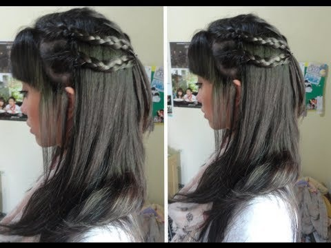 back to school simple braided hairstyle for school