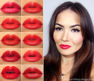 Full review on my blog: http://www.maryammaquillage.com/2013/01/10-red-lipsticks-for-valentines-day.html