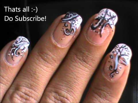 magic nails french tip victorian easy nail art for short