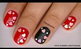 Matte and Shine Valentine's Day Nail Design