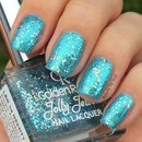 Sally Hansen, 380 Blizzard Blue+Golden Rose Jolly Jewels, 144