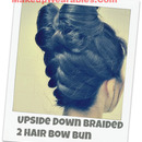 Upside Down Braided, Double Hair Bow Bun Tutorial! :)