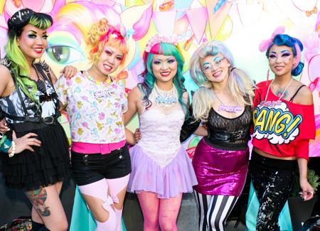 The ladies of Sugarpill at-Beautylish IMATS LA event