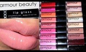 Armour Beauty Lip Gloss Swatches!