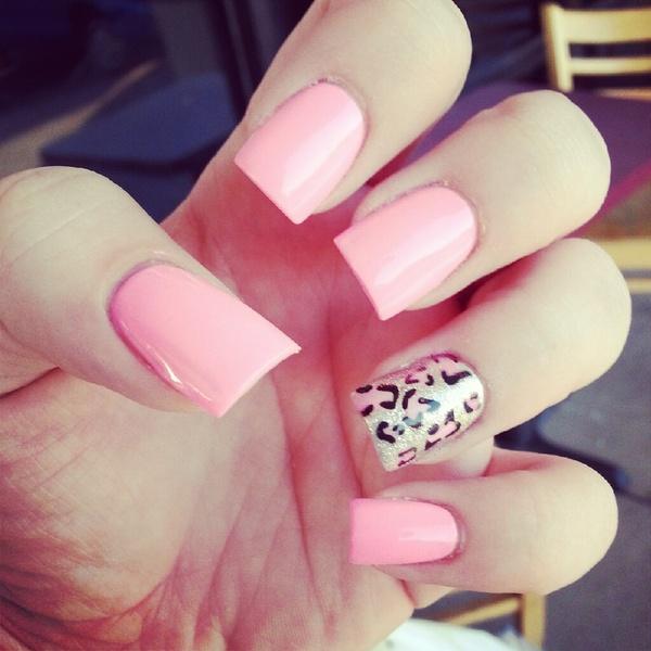 Pink Cheetah Nails Wendsday Ss Wendsdaysmither Photo