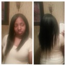 Straightened Transitioning Hair