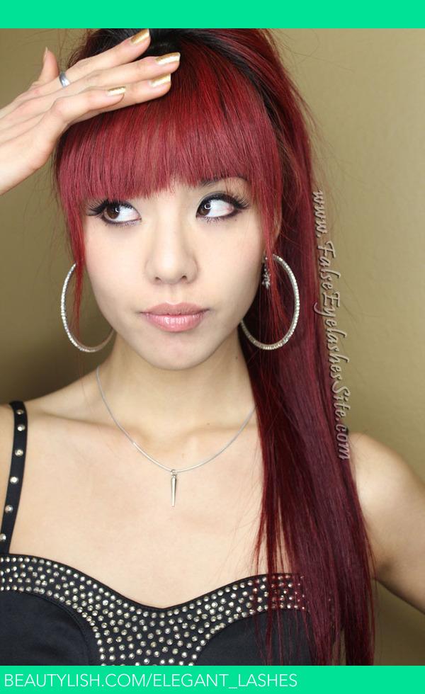 Long red hair with bangs! | Bonnie L.