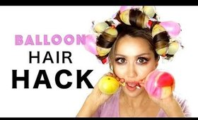 25 cent HAIR HACK ★ WEIRD BALLOON CURLS (Heatless) Every Girl Doesn't Already Know! #Hairstyles