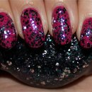 Nicole by OPI Sweet Dreams layered over Nicole by OPI Spring Break