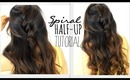 ★5 MINUTE SPIRAL HALF-UPDO HAIR TUTORIAL | EASY HAIRSTYLES FOR SCHOOL PROM WEDDING