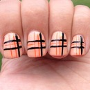 Neon Burberry Style Nails