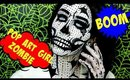 Pop Art Girl Zombie Halloween Makeup Tutorial