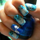 Blue China Glaze / Bow / Snowmen / Snowflake