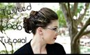 Twisted Updo Tutorial for Short Hair