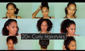 How To: Fast & Chic Curly Hairstyles For Everyday & Nights Out ◌ alishainc