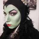 Green Evil Queen from Snow White / Sleeping Beauty Maleficent Halloween look