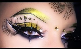 Sexy Carnival Cleopatra Arabic Makeup Tutarial using Makeup Geek ft. Giulia Cova