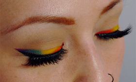 Rainbow Eye Liner Tutorial