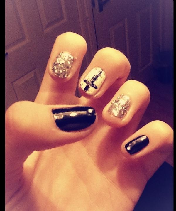 Black and white cross nails <3 | Beth S.\'s Photo | Beautylish