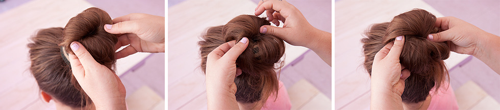 How To Do A Sock Bun - Roll Sock Down To Base