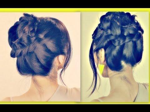 ★wispy halo milkmaid braid for medium long hair tutorial