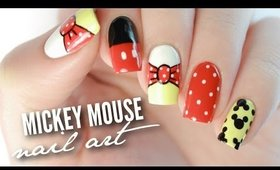 Disney Mickey Mouse Nail Art