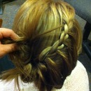 lace braid twisty bun.<3