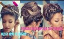 Peinado Desvanecido FACIL ( EASY Messy Updo Tutorial)