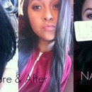 Before & after using the naked 3 palette