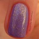 Purple with golden glitter