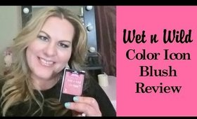 Wet n Wild Color Icon Blush Review - Pearlescent Pink