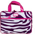 Trina Purple Zebra Cosmetic Bag