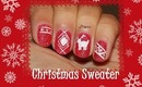Christmas Sweater Nail Design (for short nails) - Day 4
