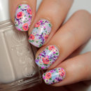 Essie Summer Pastel Floral Nails