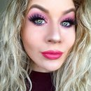 Iridescent Barbie Pink Burgundy Smokey Eye
