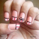 Pinstripe Bow Nails!!! (Inspired By Totallycoolnails)