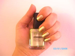 Avon Speed Dry Nail Enamel in Limeade